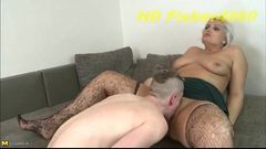 Tall BBW playing around with her toy boy