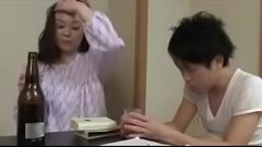 Japanese Mom with Son Drink And Fuck - Watch Part2 on hot69.org