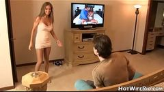 Horny mom helps her naughty son 720p