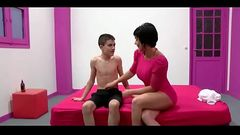 Milf Short Hair And Very Young Boy - Watch Part2 on porn4us.org