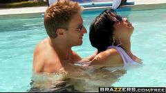 Brazzers - Big Tits In Sports - Water Polo Ho scene starring Abella Anderson and Levi Cash