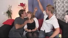 FamilyFlings.com - Both Sons Giving Their Huge Dicks To Real Mother Taboo Sex