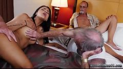 Mature lady young Staycation with a Latin Hottie