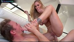 Pretty chick Julia Ann getting frisky with Erik Everhard
