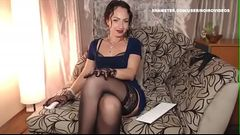 Wm 430 MILF Tease in Black Nylons--- Still Limp Dick? Visit: nolimp.com