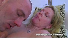 Jerking Stepson Fucks Blonde Lewd MILF