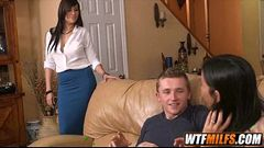 Horny stepmother shares stepdaughter'_s boyfriend 2 002