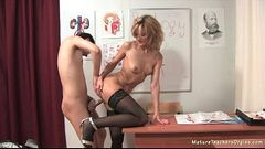 Russian mature teacher 4 - Katerina (biology lesson)