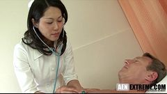 Asian MILF doctor threesome