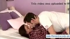 Horny son is home alone with mother and convinces her to suck and fuck--Thefamilysextube.com