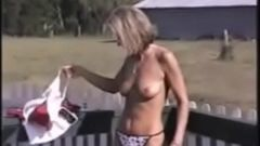 Outside Stripping Naked Crystal 3 - SlutCams.xyz