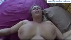 sexy bbw mom with big tits and ass woken with cock in pussy by her son--Thefamilysextube.com