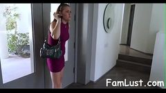Cute Step-daughter Punished By her stepdad and Mom - FamLust.com