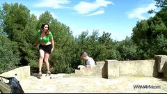 MyFirstPublic Busty horny stepmom show to stepson secrets of sex outdoor