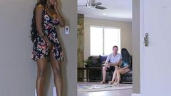 Cougar Watches Stepdaughter Suck A Big Cockm