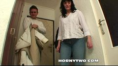 Mature brunette hairy bitch stepmom seducing stepson to fuck her deep