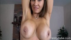 Stepmom catches son jerking off -feistytube.com